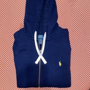 MENS POLO FULL ZIP HOODIE SIZE X LARGE